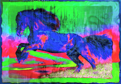 Royalty-Free and Rights-Managed Images - Abstract Horse by David G Paul