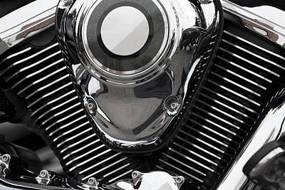 Y120831 Photograph - Abstract Motorcycle Engine by Andrew Dernie