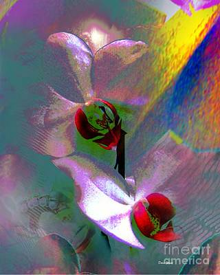 Orchids Digital Art - Abstract Orchids by Doris Wood