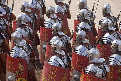 Actors Re-enact A Roman Legionaries Art Print by Taylor S. Kennedy