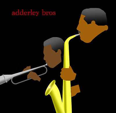 Alto Digital Art - Adderly Brothers by Victor Bailey
