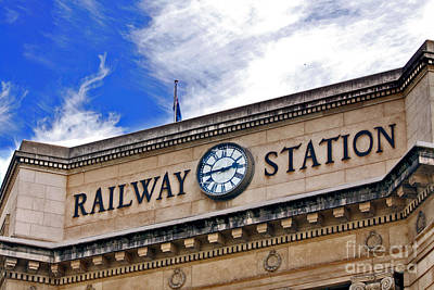 Photograph - Adelaide Railway Station by Stephen Mitchell