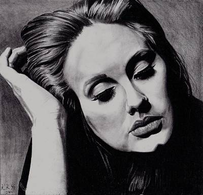 Adele Drawing - Adele by Kohdai Kitano