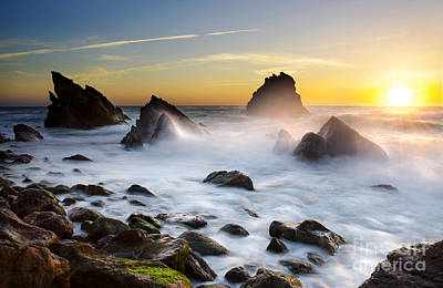 Surreal Landscape Photograph - Adraga Beach by Carlos Caetano