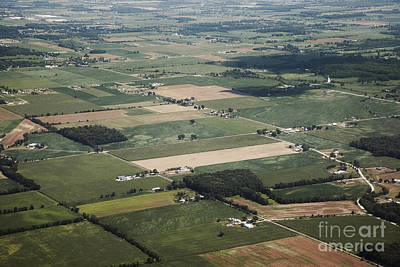 Aerial View Of Landscape Art Print by Shannon Fagan