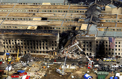 Virginia Ruins Photograph - Aerial View Of The Terrorist Attack by Stocktrek Images