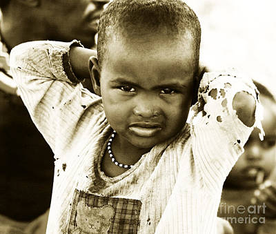 Photograph - African Kids by Anna Om