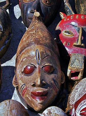 Art Print featuring the photograph African Mask by Werner Lehmann