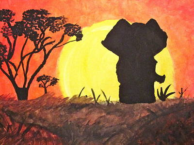 African Sunset Art Print by Hannah Stedman