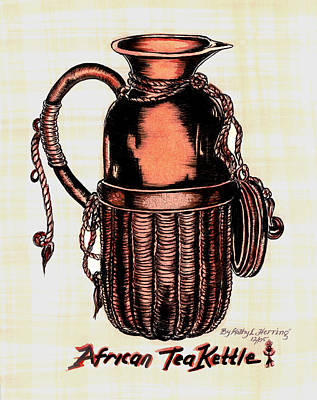 African Tea Kettle Art Print by Kathy-Lou