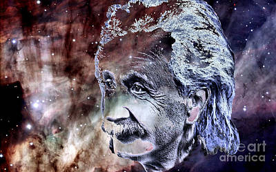 Albert Einstein Art Print by Elinor Mavor