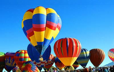 Albuquerque Balloons Art Print by Les Walker