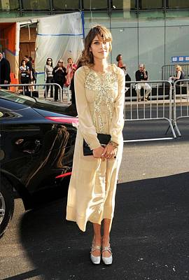 Clutch Bag Photograph - Alexa Chung Wearing A Marc Jacobs Dress by Everett