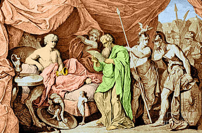 Alexander The Great And His Physician Art Print by Photo Researchers