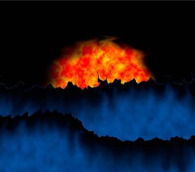 Alien Sunset Art Print by Christopher Gaston