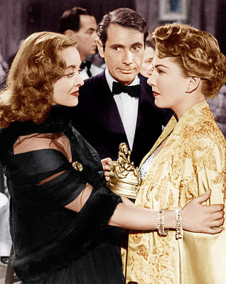 Incol Photograph - All About Eve, From Left Bette Davis by Everett