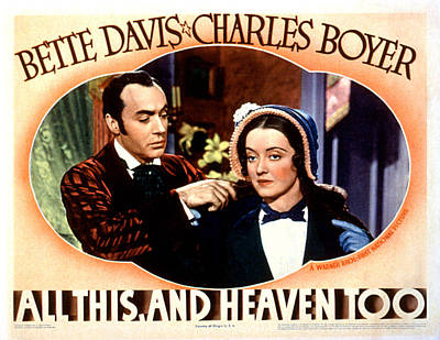 All This And Heaven Too, Charles Boyer Art Print by Everett