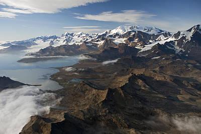 Mountain Photograph - Allardyce Range, Cumberland East Bay by Ingo Arndt