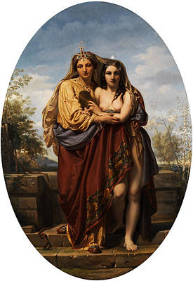 Allegory Of Truth And Beauty Print by  Felix Fossey