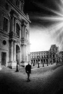 Digital Art - Alone In Paris  by Carrie OBrien Sibley