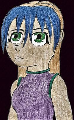Anime Drawings Drawing - Alyeita Sonsa by April McCallum