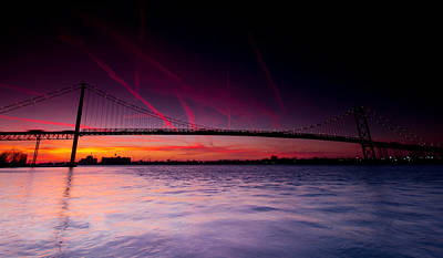 Traffic Photograph - Ambassador Bridge by Cale Best