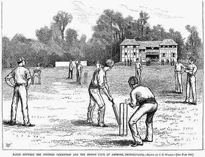 Ardmore Photograph - American Cricket, 1882 by Granger