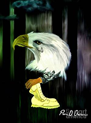 Art Print featuring the painting American Eagle Cries by Ayasha Loya