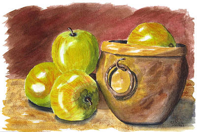 Painting - An Apple A Day by Rich Stedman
