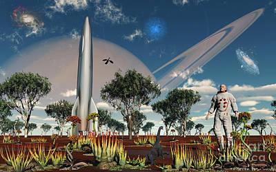 Grow Digital Art - An Astronaut Discovers A World With An by Mark Stevenson