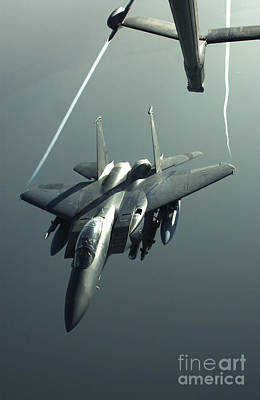 An F-15e Strike Eagle Flies Over Iraq Art Print by Stocktrek Images