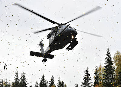An Hh-60g Pave Hawk Helicopter Prepares Art Print