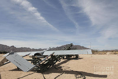 An Rq-7 Shadow Unmanned Aerial Vehicle Art Print by Stocktrek Images