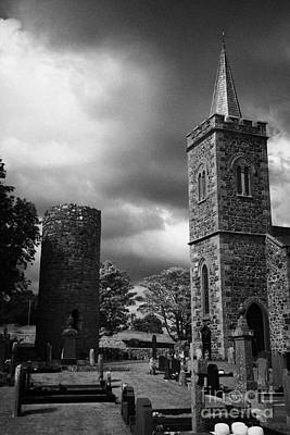Ancient Glenshesk Armoy Round Tower In The Grounds Of St Patricks Parish Church Armoy County Antrim Art Print