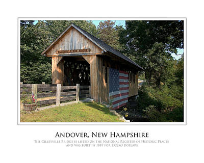 Photograph - Andover Nh Historical Bridge by Jim McDonald Photography