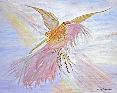 Painting - Angel-keeper Of The Rainbow by Joy Braverman