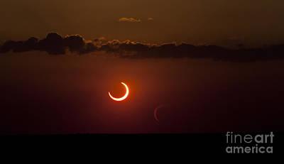Annular Solar Eclipse Art Print by Phillip Jones