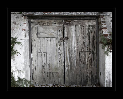 Photograph - Antique Weathered Wooden Doors by John Stephens