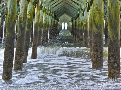 Art Print featuring the photograph Apache Pier by Eve Spring