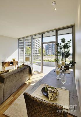 Apartment Living Room Interior Art Print by Andersen Ross