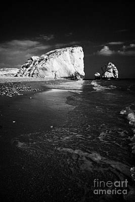 Aphrodites Rock Petra Tou Romiou Republic Of Cyprus Europe Art Print by Joe Fox