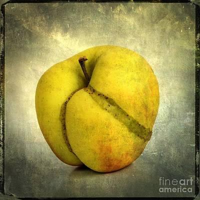 Manipulation Photograph - Apple Textured by Bernard Jaubert