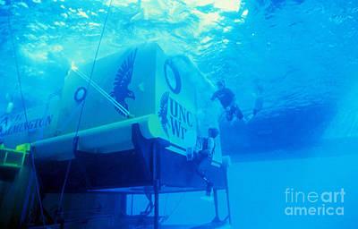 Aquarius Underwater Ocean Laboratory Art Print by Science Source