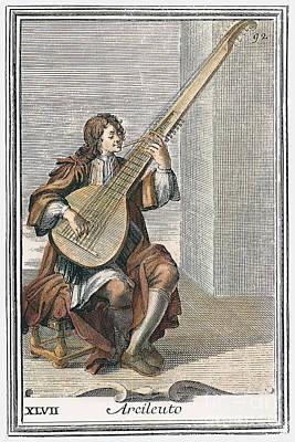 Archlute, 1723 Art Print by Granger
