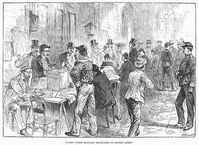 Ballot Wall Art - Photograph - Argentina: Election, 1892 by Granger