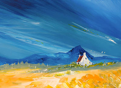 Scotland Painting - Arisaig Croft by Peter Tarrant