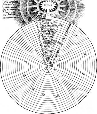 Aristotlelian And Christian Cosmologies Art Print