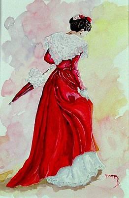 Arlesienne Art Print by Brigitte Grange