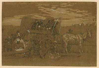 Arrival Of An African American Family Art Print by Everett