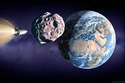 Asteroid Deflection Print by Chris Butler